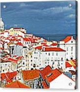 Lisbon Cityscape Acrylic Print