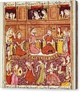 Shahnameh. The Book Of Kings. 16th C Acrylic Print by Everett