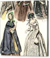 Women's Fashion, 1842 Acrylic Print