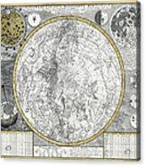 1700 Celestial Planisphere Acrylic Print by Daniel Hagerman