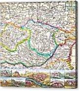 1710 De La Feuille Map Of Transylvania And Moldova Acrylic Print