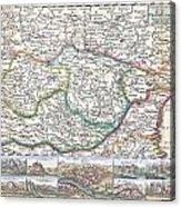 1710 De La Feuille Map Of Transylvania  Moldova Acrylic Print