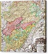 1716 Homann Map Of Burgundy France Geographicus Burgundiae Homan 1716 Acrylic Print