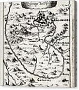1719 Mallet Map Of The Source Of The Nile Ethiopia Abyssinia Geographicus Nil Mallet 1719 Acrylic Print
