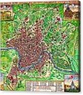 1721 John Senex Map Of Rome Geographicus Rome Sennex 1721 Acrylic Print