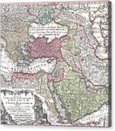 1730 Seutter Map Of Turkey Ottoman Empire Persia And Arabia Acrylic Print