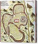 1730 Street Map Or Plan Of Jerusalem Geographicus Jerusalem Uk 1730 Acrylic Print