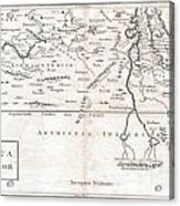 1730 Toms Map Of Central Africa Acrylic Print