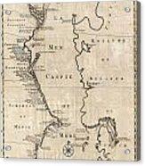 1730 Van Verden Map Of The Caspian Sea Acrylic Print