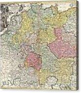 1740 Homann Map Of The Holy Roman Empire Acrylic Print