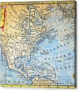 1747 Bowen Map Of North America Geographicus Northamerica Bowen 1747 Acrylic Print