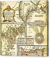 1747 Bowen Map Of The North Atlantic Islands Greenland Iceland Faroe Islands Maelstrom Geographicus  Acrylic Print