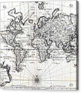 1748 antique world map versuch von einer kurzgefassten karte 1748 antique world map versuch von einer kurzgefassten karte acrylic print gumiabroncs Images
