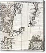1750 Bellin Map Of The Kuril Islands Acrylic Print