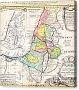 1750 Homann Heirs Map Of Israel Palestine Holy Land 12 Tribes Geographicus Palestina Homannheirs 175 Acrylic Print