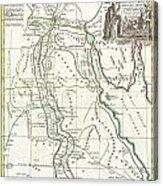 1762 Bonne Map Of Egypt  Acrylic Print
