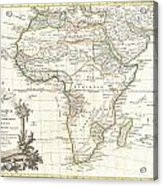 1762 Janvier Map Of Africa Acrylic Print
