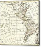 1762 Janvier Map Of North America And South America  Acrylic Print