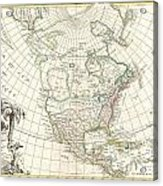 1762 Janvier Map Of North America  Acrylic Print
