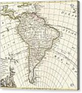1762 Janvier Map Of South America  Acrylic Print