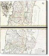 1763 De Lisle Map Of The Holy Land Acrylic Print