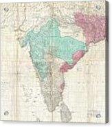 1768 Jeffreys Wall Map Of India And Ceylon Acrylic Print