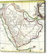 1771 Bonne Map Of Arabia Geographicus Arabia Bonne 1771 Acrylic Print
