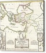 1771 Bonne Map Of The New Testament Lands Holy Land And Jerusalem Acrylic Print