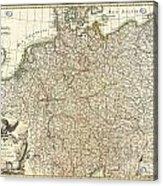 1771 Rizzi Zannoni Map Of Germany And Poland Acrylic Print