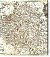 1771 Zannoni Map Of Poland And Lithuania Acrylic Print