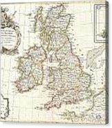 1771 Zannoni Map Of The British Isles  Acrylic Print