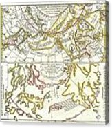 1772 Vaugondy Diderot Map Of Alaska The Pacific Northwest And The Northwest Passage Acrylic Print by Paul Fearn