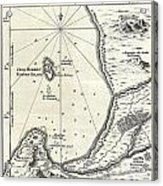 1773 Bellin Map Of The Cape Of Good Hope Capetown South Africa Acrylic Print