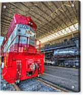 1776 And 1218 Locomotives Norfolk And Western Acrylic Print