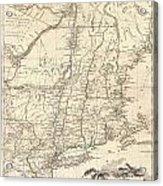 Map Of New York Revolutionary War.1777 Brion De La Tour Map Of New York And New England Revolutionary War Canvas Print