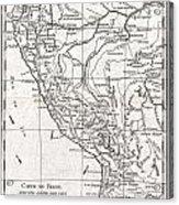 1780 Raynal And Bonne Map Of Peru Acrylic Print