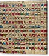 1783 World Naval Flags Acrylic Print