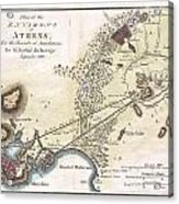 1784 Bocage Map Of The City Of Athens In Ancient Greece Acrylic Print
