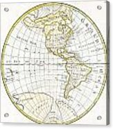 1785 Clouet Map Of North America And South America Acrylic Print