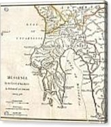 1786 Bocage Map Of Messenia In Ancient Greece Acrylic Print