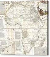 1787 Boulton  Sayer Wall Map Of Africa Acrylic Print