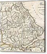 1788 Bocage Map Of Thessaly In Ancient Greece Acrylic Print