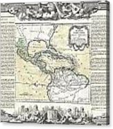 1788 Brion De La Tour Map Of Mexico Central America And The West Indies Acrylic Print
