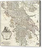 1794 Anville Map Of Ancient Greece  Acrylic Print
