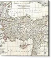 1794 Anville Map Of Asia Minor In Antiquity Acrylic Print