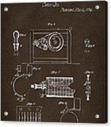 1794 Eli Whitney Cotton Gin Patent 2 Espresso Acrylic Print