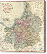 1799 Cary Map Of Prussia And Lithuania  Acrylic Print