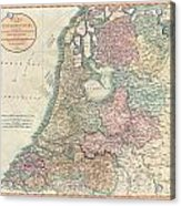1799 Cary Map Of The Netherlands Acrylic Print