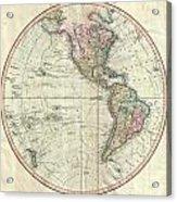 1799 Cary Map Of The Western Hemisphere  Acrylic Print