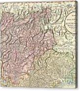 1799 Cary Map Of Tyrol Acrylic Print